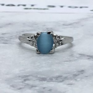Silver Turquoise Opalite Ring